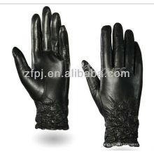 Manguito elástico estilo novo luva de couro de palma cheia para tela de toque