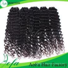 Perruque de cheveux humains non transformés, trame de cheveux humains vierges remy