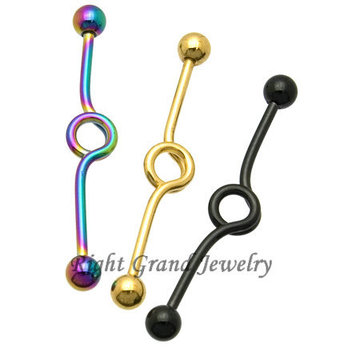 Fashion Titanium Anodized Looped Industrial Piercing