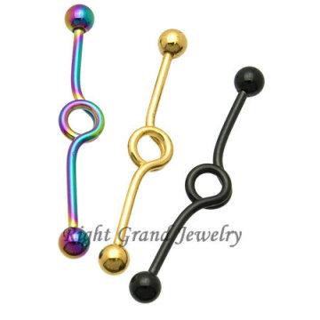 Moda titanio anodizado bucle Industrial Piercing