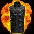Winter Infrared Usb Electric Thermal Motorcycle Waterproof Smart Warming Trapping Heating Clothes Pad Heated Vest For Men