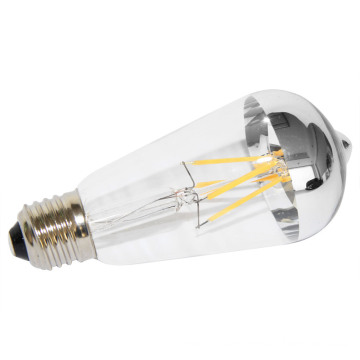 Factory Direct Sell St64 LED Bulb with Silvery Mirror Top