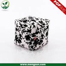 Bolsa de frijol de lona impresa digital bolsa de frijol de cubo durable otomano