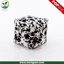 digital printed canvas bean bag ottoman durable cube bean bag