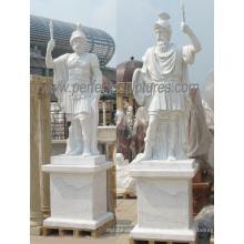 Carving Stein Marmor Warrior Skulptur Statue für Garten Dekoration (SY-X1690)