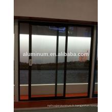 Portes coulissantes en aluminium à rupture thermique