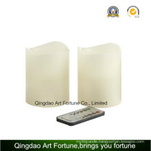 Flameless LED Wax Candle with Remote Control CE, RoHS Home Decor