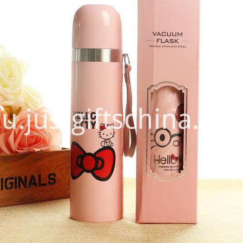 Promotional 500ml Hello Kitty Stainless Sports Bottles (2)