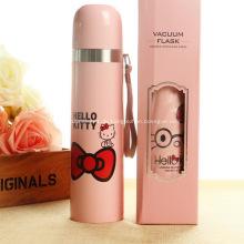 Werbe 500ml Hello Kitty Edelstahl Sportflaschen