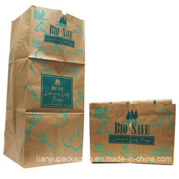 Blatt-Papierkorb-Kraftpapier-Beutel
