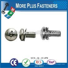 Taiwan Stainless Steel Copper Brass Aluminium Square Washer Hex Head Sem Screw