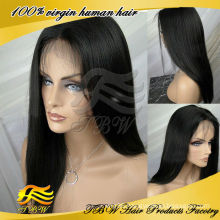 Qingdao manufacture wholesale peruvian virgin human hair light italian yaki wig full lace wigs