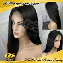 Qingdao manufatura atacado peruano virgem luz do cabelo humano italiano yaki peruca cheia do laço perucas
