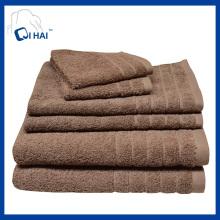 100% algodão fio toalha de hotel de cor sólida (qhda4409)