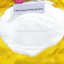 Bonne qualité de matière première chimique vierge Polyéthylène chloré poudre blanche CPE matière première chimique