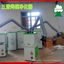 nouveau collecteur de poussière de vapeur de soudure approuvé par OIN de conception avec trois bras de fonction