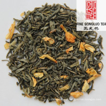 Mistura instantânea de flores de jasmim com qualidade extra de chá verde