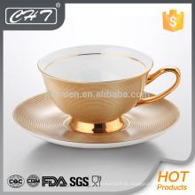 Porcelana irrompible taza de té decorativo y platillo