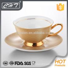 Tasse à thé décorative incassable en porcelaine et soucoupe