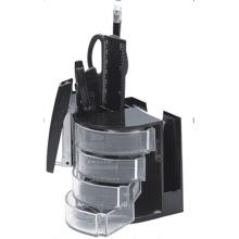 Organizador de papelaria de rotação de mesa de promoção em preto Color402