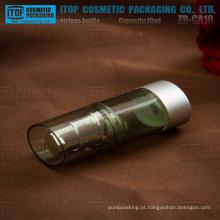 ZB-CA série 10ml 15ml tudo plástico tamanho pequeno delicada oval frasco mal ventilado