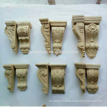 Architectural wood carvings corbels, appliques for furniture and cabinets