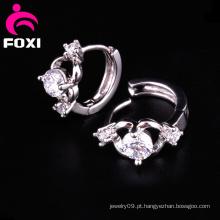 Melhor Venda de Moda Jóias Brinco de Argola de Diamante
