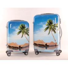 Paysage Motif Suitcase Mignon Motif Draw Rod Box Dessin Animé Design Tirage Rod Box Dessin Animé Design Tirage Rod Box