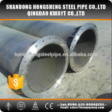 ssaw carbon steel pipe with flange