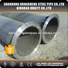 Ssaw tubo de aço carbono com flange