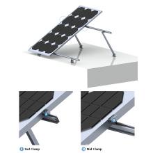 Sistema de montaje solar ajustable de inclinación plana 100KW