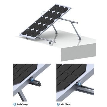 Плоская крыша 100КВТ наклона регулируемая Солнечная система крепления