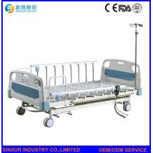 Cama de hospital 3crank eléctrica con barandilla de aleación de aluminio