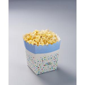 Popcorn-Box mit Happy-Birthday-Druck