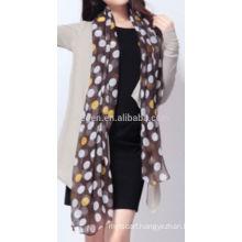 New fashion acrylic dots printed scarf