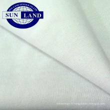 Jersey de coton avec revêtement en polyester pour tissu de chemise de sport