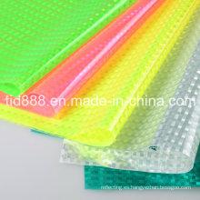 Hoja del PVC de la chispa plata hoja reflexiva hoja de PVC brillo