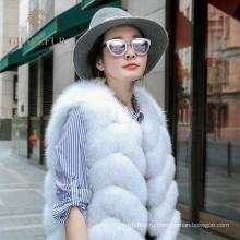 Подгонянный поставщик реального Фокс меховой жилет мода