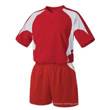 Custom 100% Polyester Man′s Short Sleeve Soccer Jersey