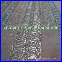 Barbed wire mesh fence coated aluminum or galvanized or PVC or PE