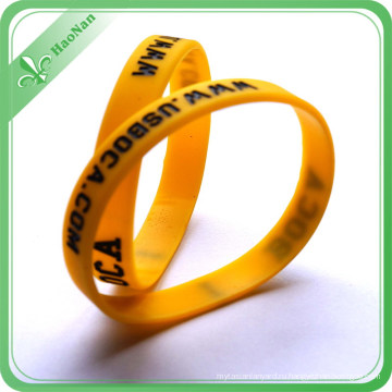 Выдвиженческий wristband кремния с Логосом для подарка