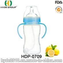 Botella de alimentación plástica del bebé libre de la categoría alimenticia de BPA (HDP-0709)