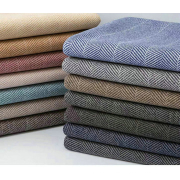 80%Polyester 20%Wool Herringbone Double Faced Woolen Fabric for Overcoats
