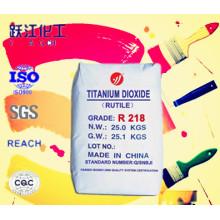 Uso general Dióxido de titanio R218 De los 10 principales fabricantes de China