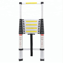 3.2m All Aluminum Lightweight Folding Telescopic Bamboo Ladder, Small Space EN131 bamboo ladder in China