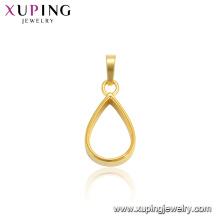 34152 xuping 24k gold plate water-drop shape simple design fashion pendant