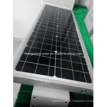 Lâmpada solar de rua solar integrada do diodo emissor de luz 60W / luz do diodo emissor de luz do jardim