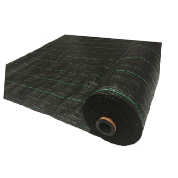 PE / PP Woven Ground Cover Fabric 150gsm , Weed Mat For Home Garden