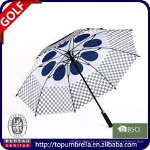 28 дюймов 8 ребра Гольф зонтик с двойным навесами и форточек.