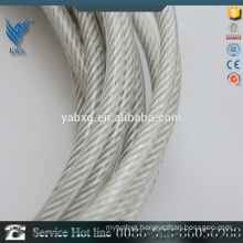 High quality 7*19 customized SUS316 plastic coated stainless steel wire rope